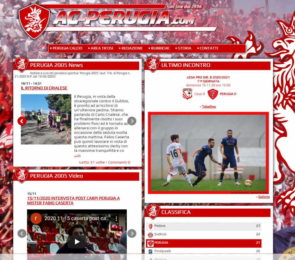 ac-perugia.com